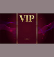 vip premium invitation card poster or flyer for vector image