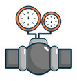gauges on pipeline icon cartoon style vector image