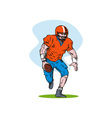 Football Player Running vector image vector image