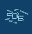 simple happy new year card 2016 vector image vector image