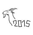 2015 year of the goat vector image