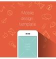 Social media communication background vector image