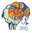 Ornament and decorative sheep vector image vector image