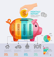 Money Saving Monthly Report Infographics Template vector image