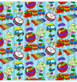 pattern of childrens toys for boys vector image