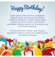 Colorful Birthday Card Template vector image vector image