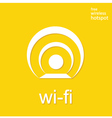 Wireless and wifi icon or sign for remote internet vector image