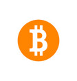 bitcoin symbol on white isolated background vector image