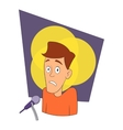 Fear of public speaking icon cartoon style vector image