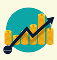 Financial success concept Coin bar graph business vector image