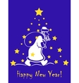 Greeting card with Santa Claus vector image