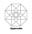 hypercube icon vector image