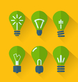 icon set process of generating ideas to solve vector image