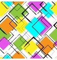 Seamless colorful pattern with squares vector image