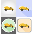truck flat icons 11 vector image