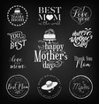mothers day design elements badges and labels vector image vector image