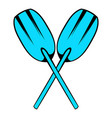 paddle icon icon cartoon vector image