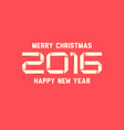 simple happy new year card 2016 vector image