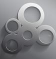 Round 3d steel frame vector image