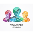 teamwork infographic Template for a partnership vector image