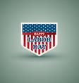 Happy labor day American shield style vector image