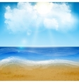 Sand of beach scene vector image