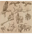 animals - an hand drawn pack vector image