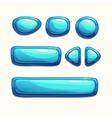 Blue buttons set vector image