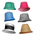 fashion hats vector image