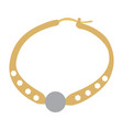 isolated golden necklace vector image