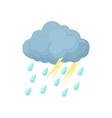 Thunderstorm cloud icon cartoon style vector image