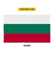 Bulgarian grunge flag with little scratches on vector image