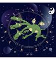 Zodiac signs dragon vector image vector image