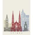 Ottawa skyline poster vector image vector image
