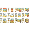 Email line icon set vector image vector image