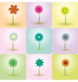 Abstract Flowers backgrounds vector image vector image