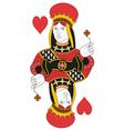 Queen of hearts no card vector image vector image