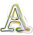Organic Font letter a vector image