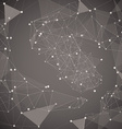 Abstract dark background made from points and vector image vector image