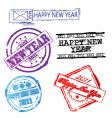 new year 2011 stamps vector image vector image