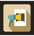 Barcode scanner icon in flat style vector image