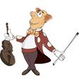 a violinist cartoon vector image