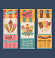 banners of ice cream for cafe vector image