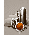 Grunge urban basketball background vector image
