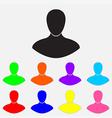 man color icon vector image