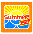 Summer juice label vector image