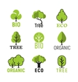 tree organic eco bio logo set vector image