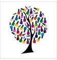 Tree with Realistic Nail Polish vector image