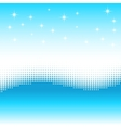 Wave background with halftone effect Stars snow vector image
