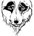 wolf head portrait illustration vector image